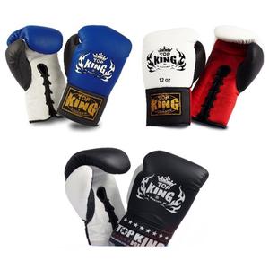 Top King Gloves Thai Kick Boxing K1 Signature Gloves 8 10 12 14 16 18oz
