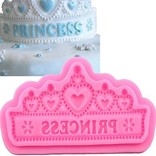 VAlink Princess Crown shape Silicone Cake Molds Wedding Cake Border Fondant Cake Decorating Tools Cupcake Chocolate Moulds Baking Mat Bakewaer Tray Kitchen Cooking Tool Party Supplies