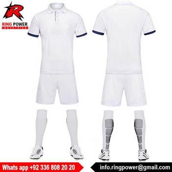 Blanco Jersey De Fútbol En Uniforme De Fútbol - Buy Uniforme De ...