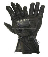 Motorbike Racing Leather Gloves with Kevlar.