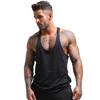 Gym Stringer Vest Muscle Tank Top Singlet Black Color