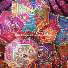 Indian Wholesale Lot 100 Pcs Traditional Umbrellas Parasol Rajasthani Decor Jaipuri Umbrella