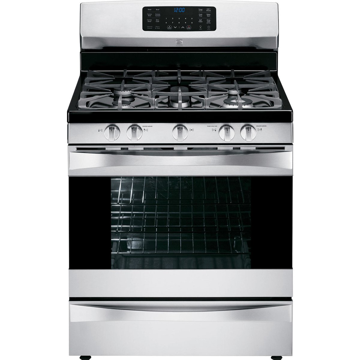 Kenmore Elite 75233 5.6 cu. ft. Gas Range with True Convection in Stainless Steel, includes delivery and hookup