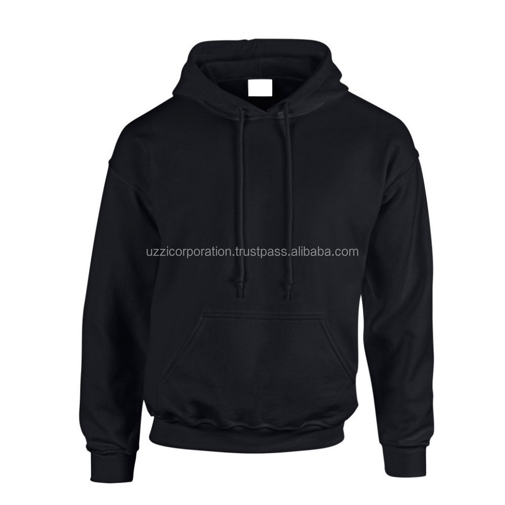 OEM Factory knitted heavy polyester/cotton pullover Men's Hoodies &