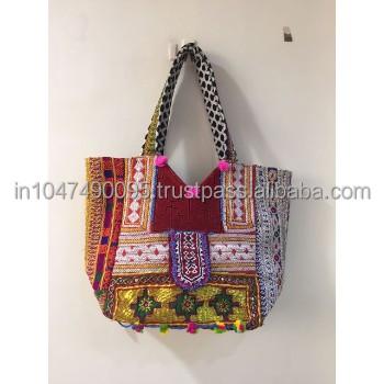 2018 Made In India Vintage Banjara Hand Embroidery Zari Work Banjara