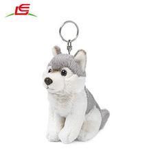 Klein formaat mini pluche wolf <span class=keywords><strong>sleutelhanger</strong></span> speelgoed knuffel pluche wolf <span class=keywords><strong>sleutelhanger</strong></span>
