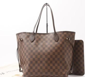 d9536dce04264 Used LOUIS VUITTON N41603 Damier never full MM Handbags for bulk sale.
