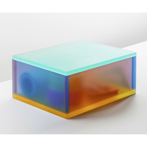 Customized Made Small Acrylic Block Cube Colored Plexiglass Gift Box with Removable Lid