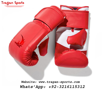 Custom Logo Printed Cowhide Genuine Leather Boxing Gloves