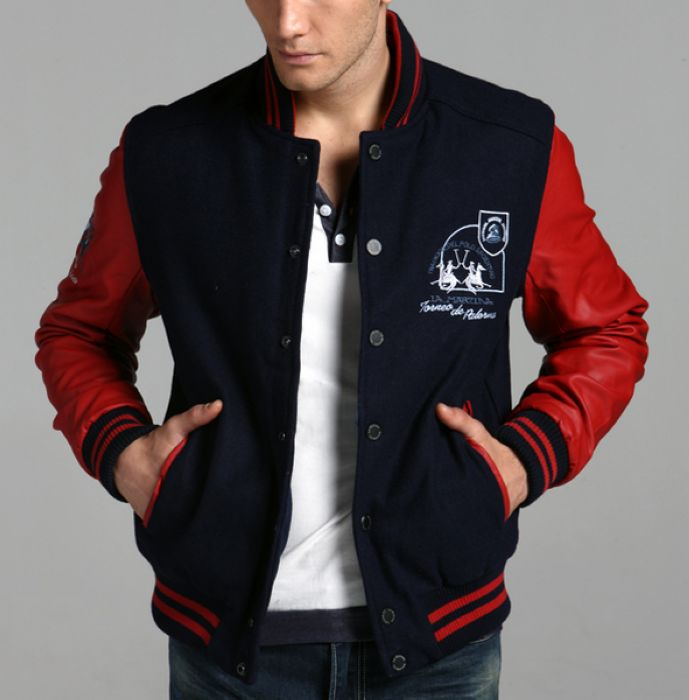 Varsity Jacket With Leather Sleeves, Varsity Jacket With Leather ...