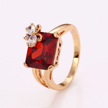 12458 Gold ruby ring designs for women, 18k gold red ruby ring