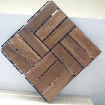 Wooden Acacia Tiles For Adhesive Decking Floor Tiles 2018 Buy Best