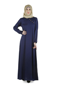Wholesale Maxi Dress Indigo Trendy Abaya Dress Muslim Dress Islamic Clothing