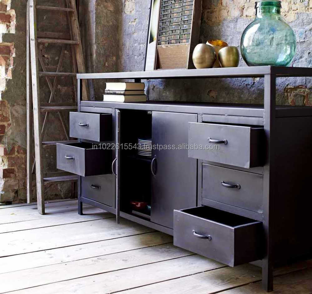 Industrial Metal Retro TV Unit./Vintage TV stand/ Metal Sideboard