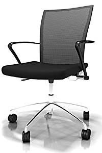 "Mayline Valore Mesh Back Task Chair Overall Dimensions: 23 1/2""W X 20 1/2""D X 36 1/2""-40 1/4""H Seated Area Dimensions: 19.5""W X 17""D X 18""H Seat Height: 18.5""-22.25"" - Black"