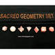 Rose Quartz 7pcs Gemstone Sacred Geometry Set With Purse