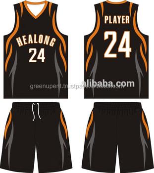 Black Custom High School Basketball Jersey Uniform