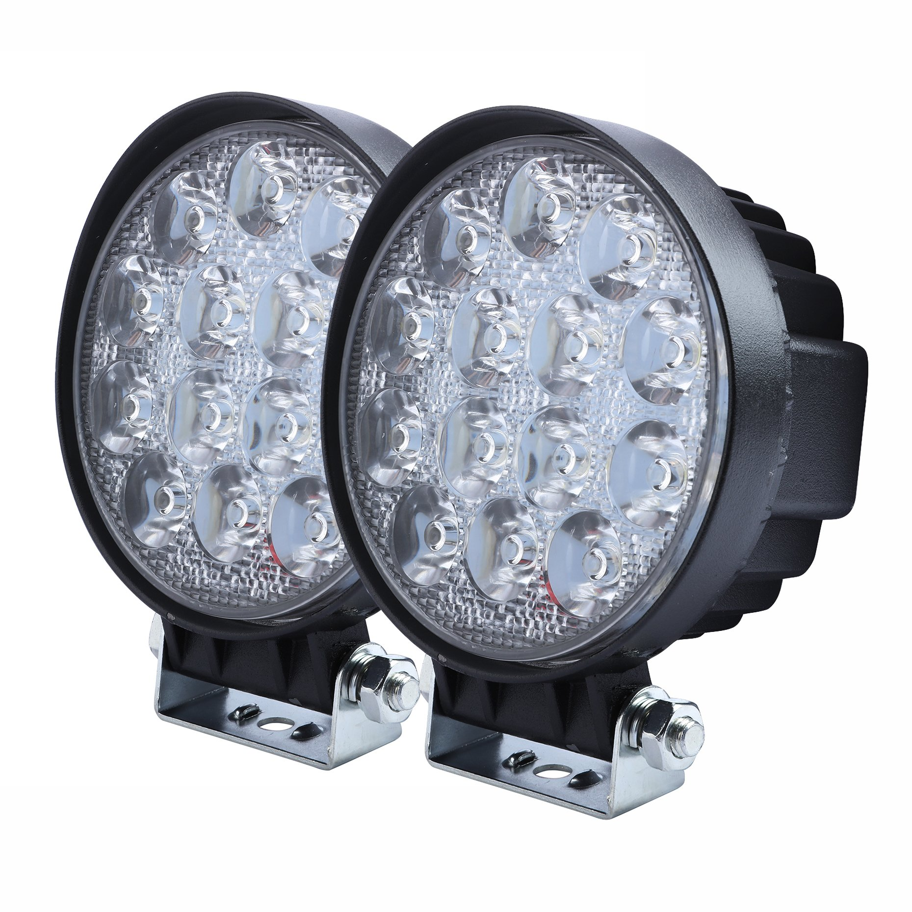Cheap Round Driving Lights Find Deals On Line Westin Led Wiring Harness Kit Get Quotations Aellons Spot Work Light 2pcs 42watt High Power Epistar Leds Off Road