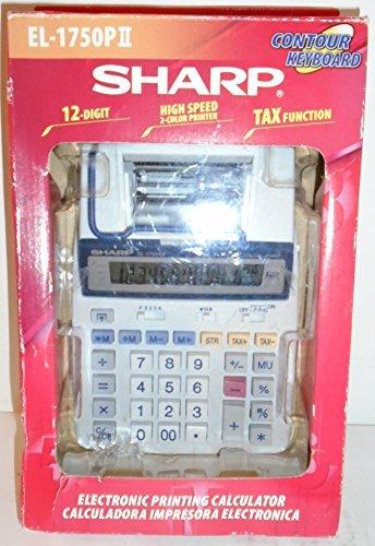 Sharp Electronic Printing Calculator EL-1750PII