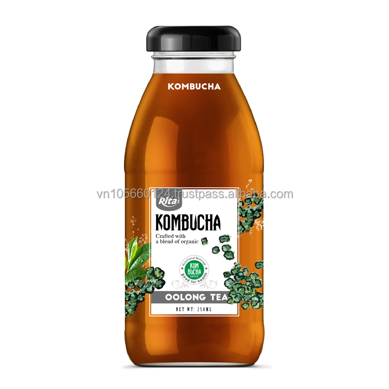 Whosaler beverage 250ml glass bottle Kombucha with Oolong Tea