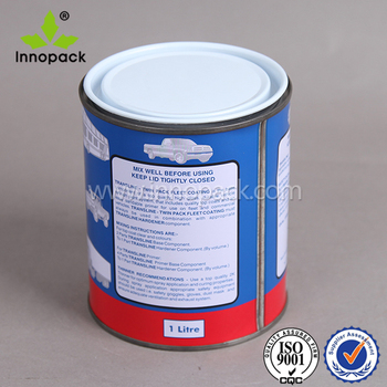 1 gallon paint metal tin can with white leakproof lid and logo printing