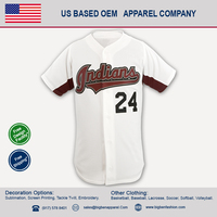solid full button baseball jersey with unique underarm panels