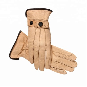 polyester shell leather palm Equestrian Horse Riding Gloves