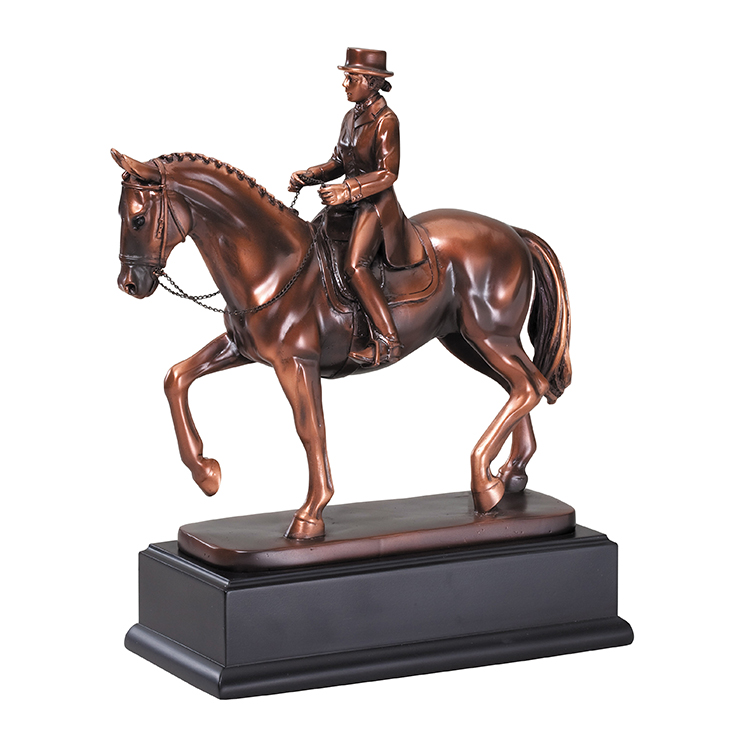 Custom Unique Horse and Rider World Cup Trophies