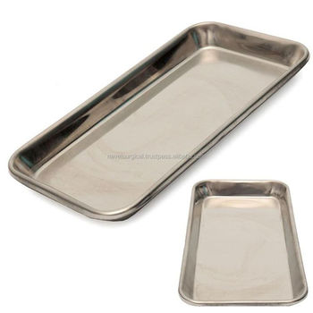 Stainless Steel Medical Surgical Tray Dental Dish Lab Instrument Tools