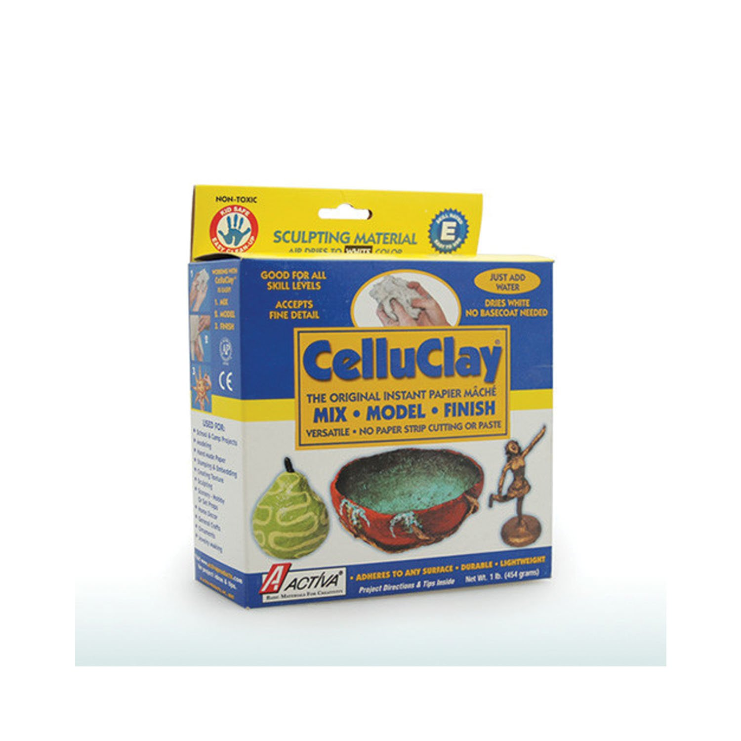 Activa Products Celluclay Instant Papier Mache (Bright White) - 1 Lb.