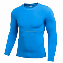Wholesale Gym Dry Fit Men's Compression Shirt Coolmax Men Sports Skins Wear Men's Long Sleeve t shirts