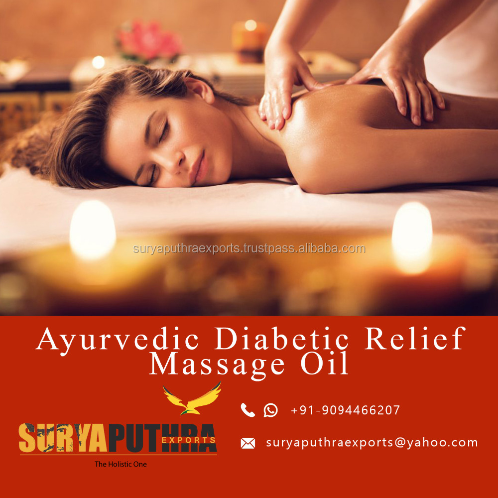 high quality 100% natural and pure ayurvedic herbal massage oil