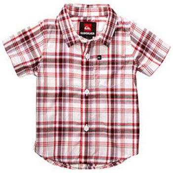 f185b725a Woven, Children Boys Short Sleeve Shirt Custom low price clothing kids  school uniforms kids polo