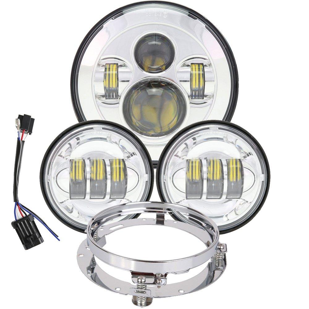 Buy TRUCKMALL 7 inch Daymaker LED Headlight DOT Kit Set Fog ... on