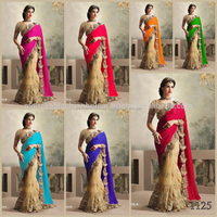 Heavy designer Partywear wedding fully diamond work saree with Embroidery work