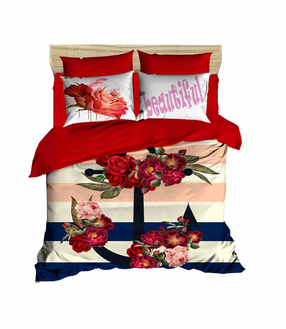 Otantik Blue Duvet Cover Set with Pillowcases Polycotton Bedding Set All Sizes