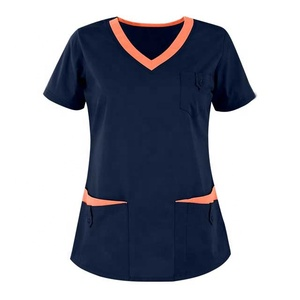 Nurse Uniform Design Women Medical Scrub shirt