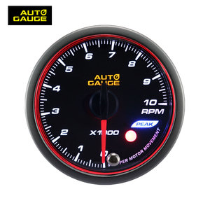 60mm auto gauge tachometer / smoke lens Tachometer gauge with warning and peak recall