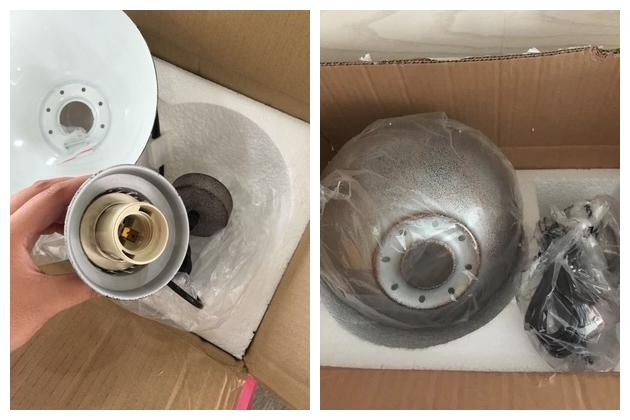 Lampadario Antico Ottone : Ottone antico lampadario vintage industriale loft lampada a
