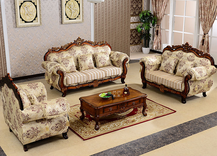 Phong cách châu Âu phòng khách sang trọng bộ đồ nội thất sofa