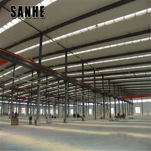 Prefab building a steel shed iron structure / metal construction