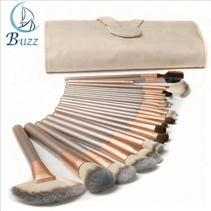 18Pcs Soft Make Up Brushes Tools Cosmetic Beauty Makeup Brush Sets With Leather Case
