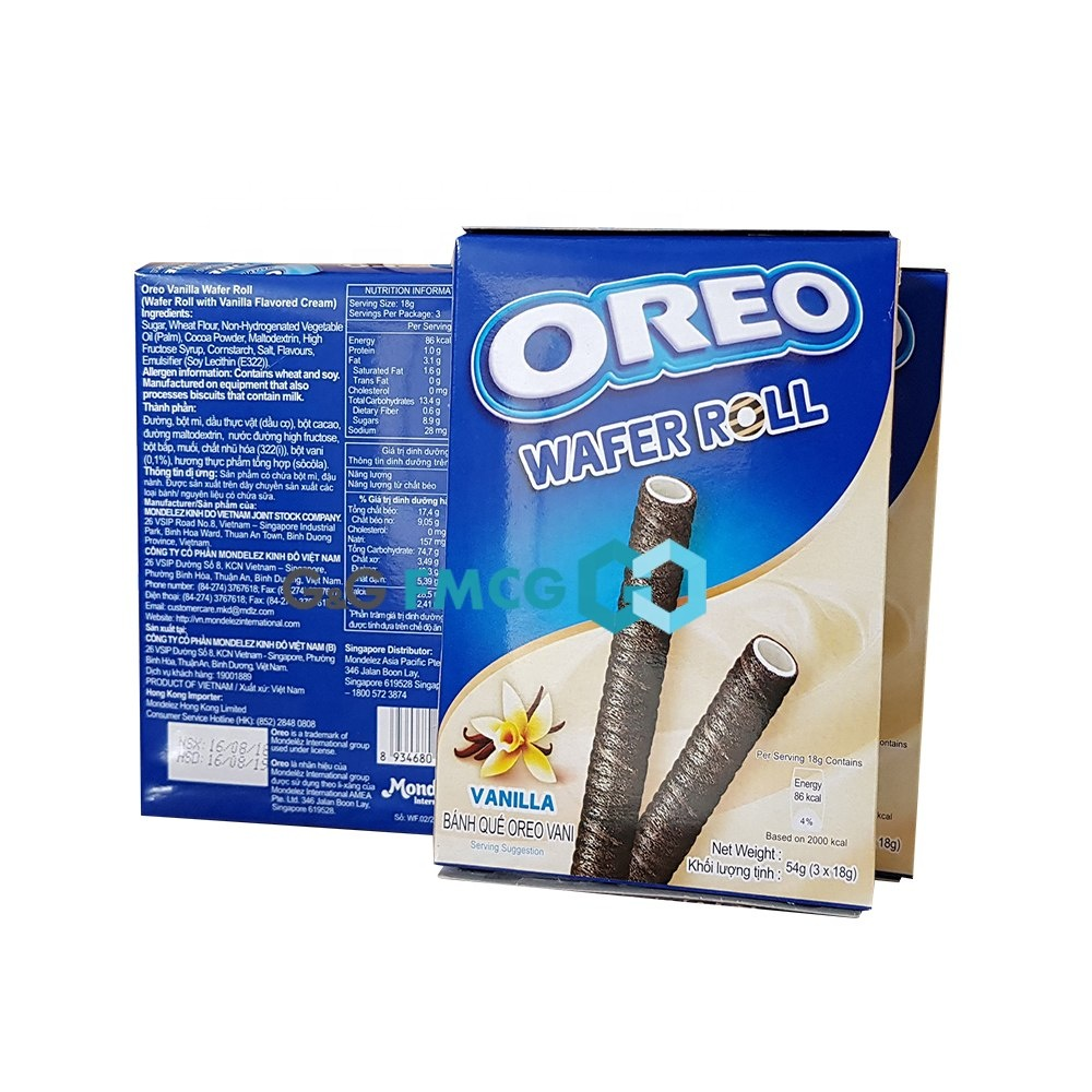 Oreo Vanille Wafer Roll 54g/Oreo Wafer Roll, groothandel Oreo, Oreo Biscuit