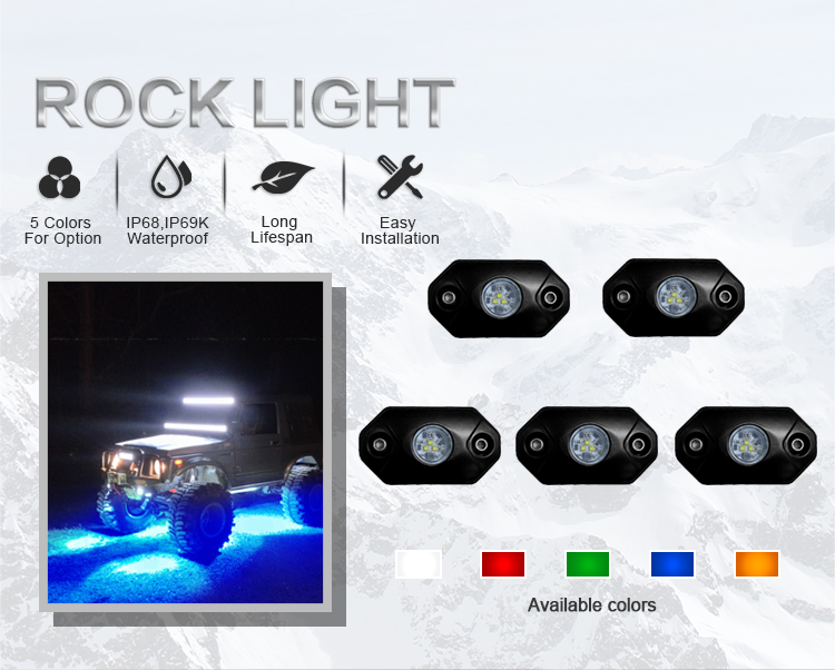 Bluetooth Controlled Rgb Off Road Led Rock Lights Offroad Led Spot Lights Bar 50 Supplier