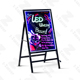LED Writing Board Illuminated Erasable Neon LED Message Menu Acrylic Board DIY Outdoor Indoor Portable Fluorescent Marker Pens