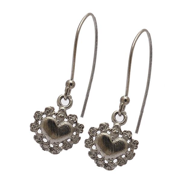 925 Sterling Silver /& Ruthenium-plated Beaded Dangle Post Earrings
