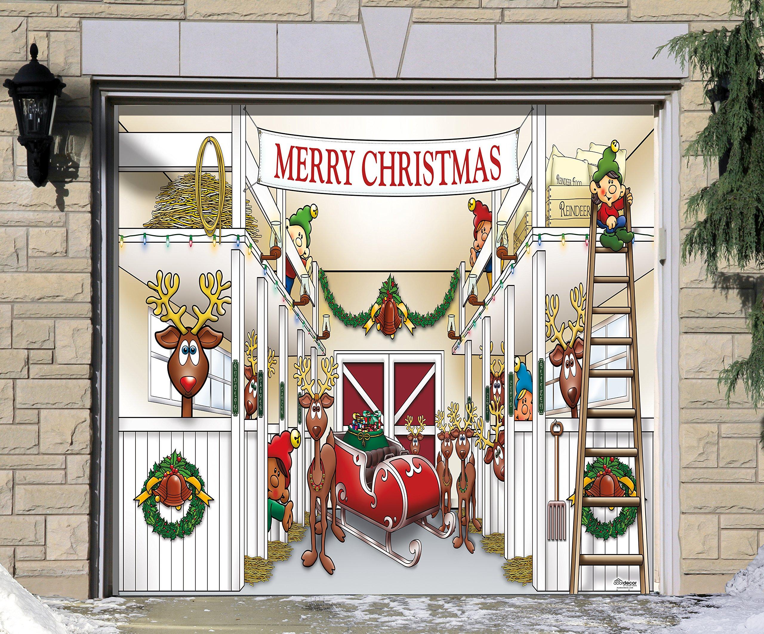 Buy Huge Santas Reindeer Barn Outdoor Christmas Holiday ...