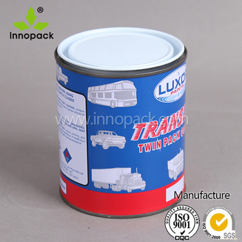 free sample for empty paint 1 gallon tin can with white varnished lid