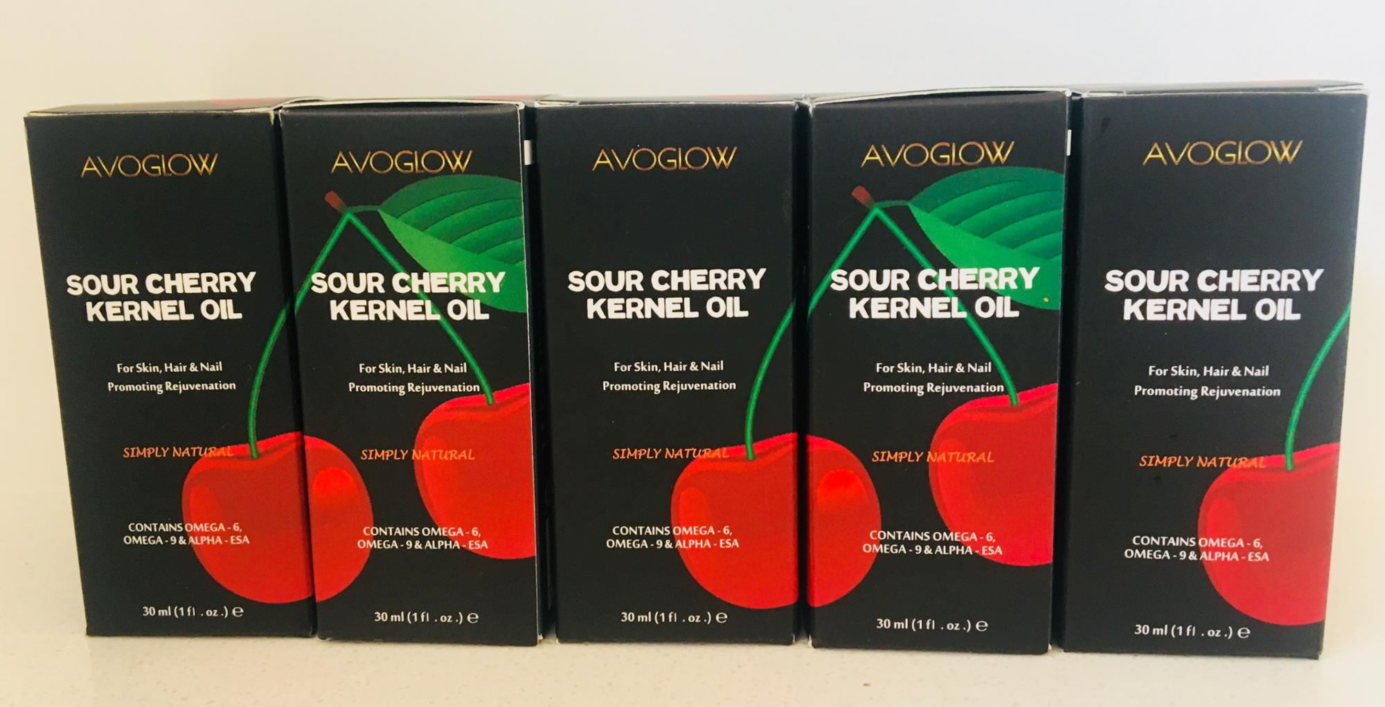 Sour Cherry Kernel Oil - 100% Natural Cold-Pressed - No Additives - Anti-aging and anti-wrinkles