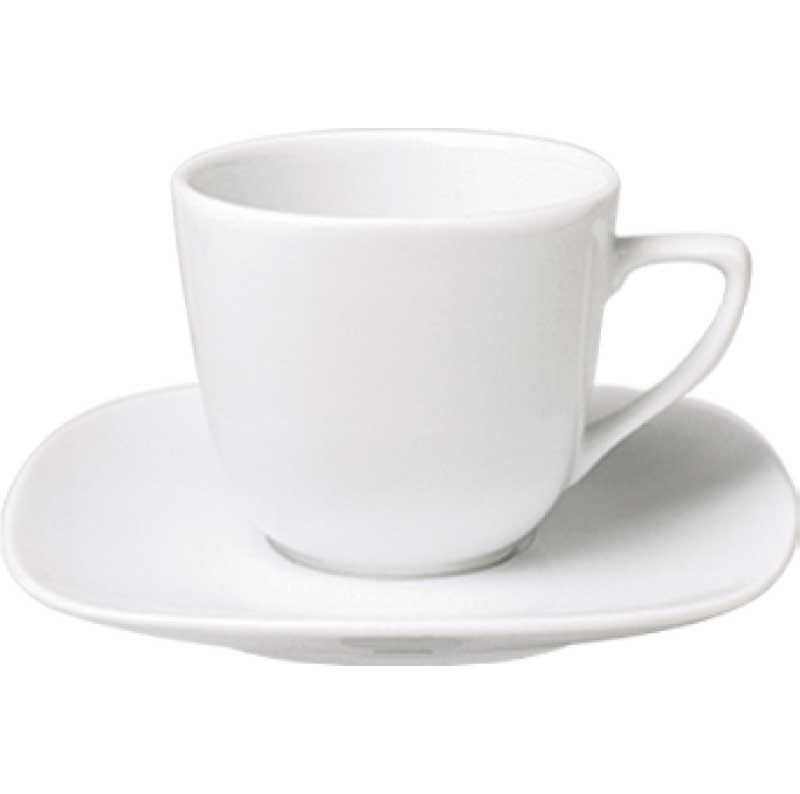 MIMOZA PORCELAIN COFFEE,TEA CUPS AND SAUCERS
